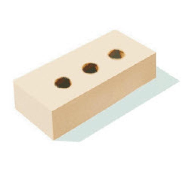 """Кирпич керамический полнотелый одинарный с тех. пустотами (13%) с гладкой поверхностью """"сливки"""" М 150-200 (250*120*65)"""