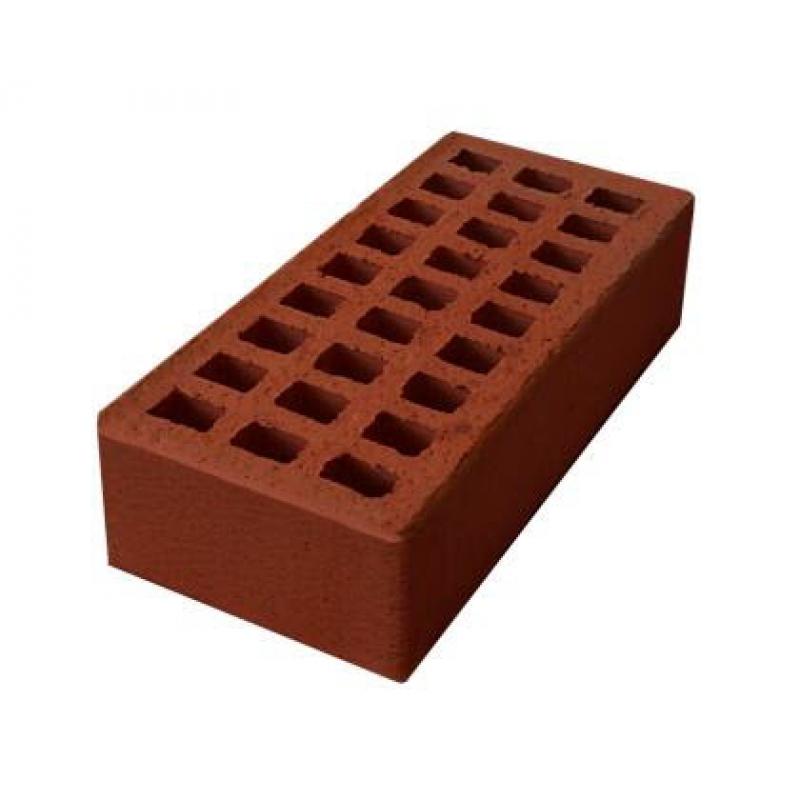 """Кирпич керамический пустотелый одинарный  с гладкой поверхностью """"красный"""" М 125-150 (250*120*65)"""