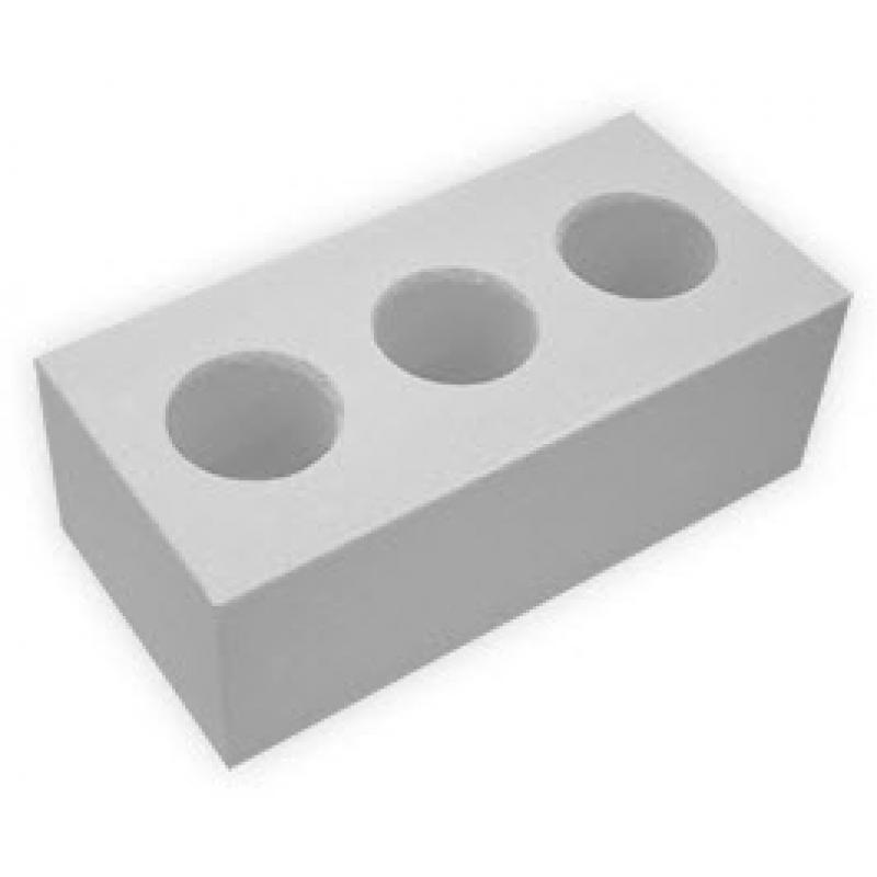 Кирпич силикатный пустотелый двойной  (неокрашенный) (250*120*138)