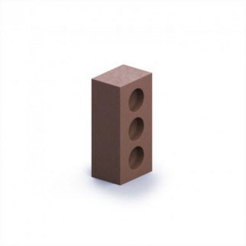 """Кирпич силикатный пустотелый утолщенный """"коричневый""""  М 150-200 (250*120*88)"""
