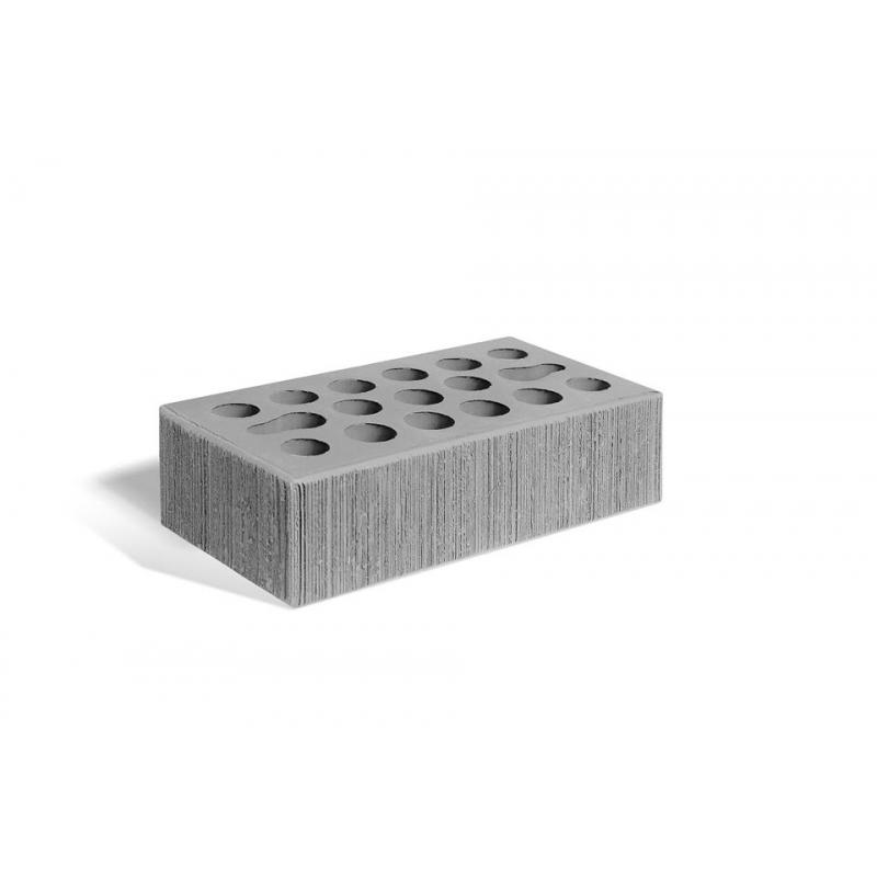"Кирпич керамический пустотелый утолщенный  ""серебро накат бархат"" М 150 (250*120*88)"