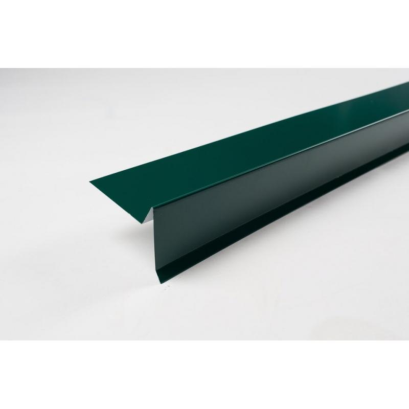 Планка торцевая  полиэстер  RAL 6005 Зеленый