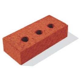 """Кирпич керамический полнотелый одинарный с тех. пустотами (13%) с гладкой поверхностью """"красный"""" М 150-200 (250*120*65)"""