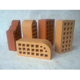 """Кирпич керамический пустотелый утолщенный профиль 2Б  """"коричневый"""" (250*120*88)"""