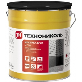 Мастика гидроизоляционная ТЕХНОНИКОЛЬ №24 ведро 3кг